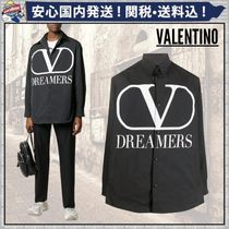 VALENTINO Short Plain Oversized Logo Jackets