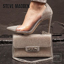 Steve Madden Blended Fabrics Plain Leather Pin Heels Party Style