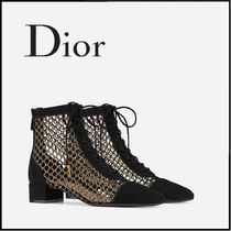 Christian Dior Leather Mid Heel Boots