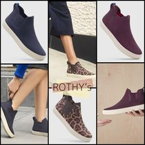 ROTHY'S Leopard Patterns Round Toe Casual Style Plain Office Style