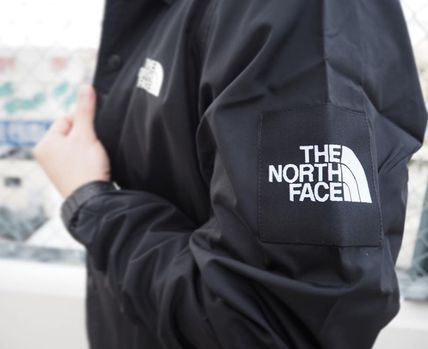 THE NORTH FACE Short Nylon Plain Coach Jackets Logo Coach Jackets
