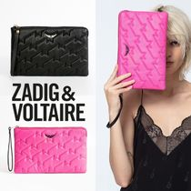 ZADIG & VOLTAIRE Casual Style Plain Leather Clutches