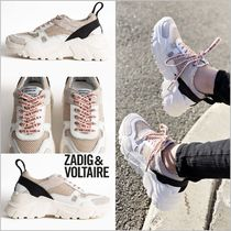 ZADIG & VOLTAIRE Suede Leather Low-Top Sneakers