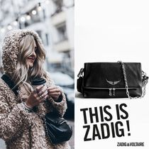 ZADIG & VOLTAIRE Casual Style 2WAY Plain Leather Shoulder Bags