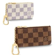 Louis Vuitton Unisex Leather Logo Keychains & Bag Charms