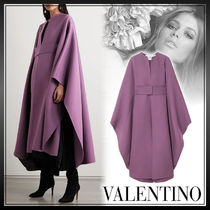 VALENTINO Casual Style Wool Street Style Plain Long Oversized