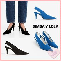 bimba & lola Casual Style Suede Pointed Toe Pumps & Mules