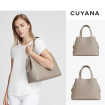 CUYANA Casual Style 3WAY Leather Office Style Totes