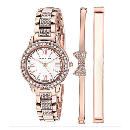 Metal Round Party Style Quartz Watches With Jewels