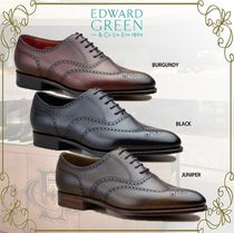 Edward Green Wing Tip Plain Leather Oxfords