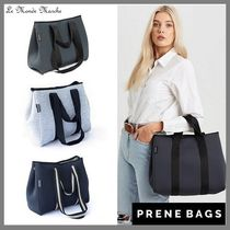 Prene Bags Casual Style A4 Plain Office Style Logo Totes