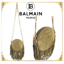 BALMAIN Plain Shoulder Bags