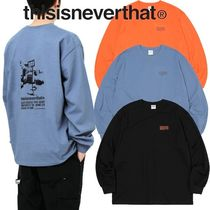 thisisneverthat Street Style Long Sleeves Cotton Long Sleeve T-shirt Logo