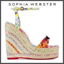 SOPHIA WEBSTER Open Toe Casual Style Leather Party Style Office Style