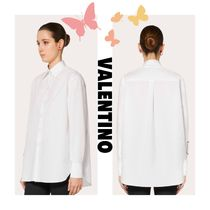VALENTINO VLOGO Casual Style Street Style Long Sleeves Plain Party Style