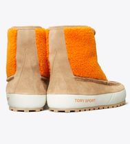 TORY SPORT Rubber Sole Casual Style Suede Blended Fabrics Bi-color Logo