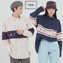 ROMANTIC CROWN Casual Style Unisex Street Style Long Sleeves Plain Long