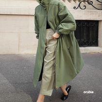 Stand Collar Coats Casual Style Blended Fabrics Street Style