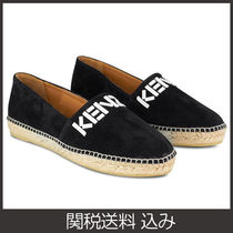 KENZO Plain Toe Casual Style Suede Plain Slip-On Shoes