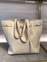 Jimmy Choo Suede Plain Leather Logo Totes