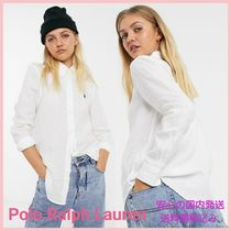 POLO RALPH LAUREN Casual Style Linen Long Sleeves Plain Shirts & Blouses