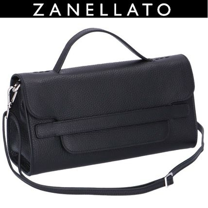 Casual Style 3WAY Plain Leather Crossbody Formal Style