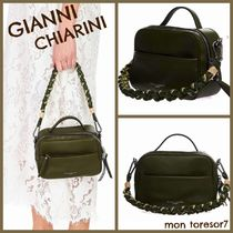 GIANNI CHIARINI Casual Style 2WAY Plain Leather Shoulder Bags