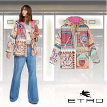 ETRO Short Flower Patterns Casual Style Medium Formal Style