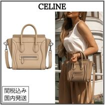 CELINE Luggage Casual Style Calfskin 2WAY Plain Home Party Ideas