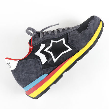 Star Driving Shoes Unisex Enamel Suede Blended Fabrics