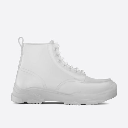 Christian Dior Plain Toe Street Style Plain Logo Engineer Boots