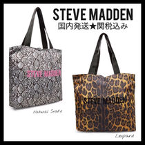Steve Madden Leopard Patterns Casual Style Python Totes