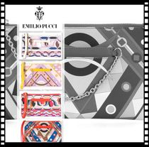 Emilio Pucci Casual Style Chain Party Style Elegant Style Clutches