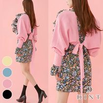 DINT Short Casual Style Street Style Long Sleeves Plain
