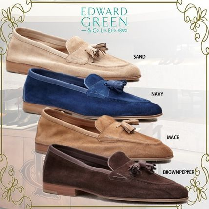 Loafers Suede Plain U Tips Oxfords