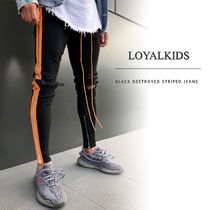 Street Style Plain Men Skinny Pants
