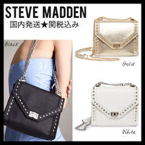 Steve Madden Casual Style Blended Fabrics Studded Chain Plain Party Style