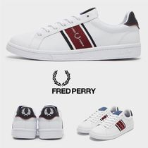 FRED PERRY Street Style Plain Leather Sneakers