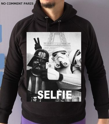 NO COMMENT PARIS Hoodies Street Style Long Sleeves Cotton Hoodies