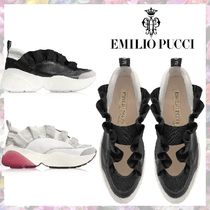 Emilio Pucci Rubber Sole Casual Style Plain Low-Top Sneakers