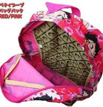 bettyboop Casual Style Unisex Street Style Logo Backpacks