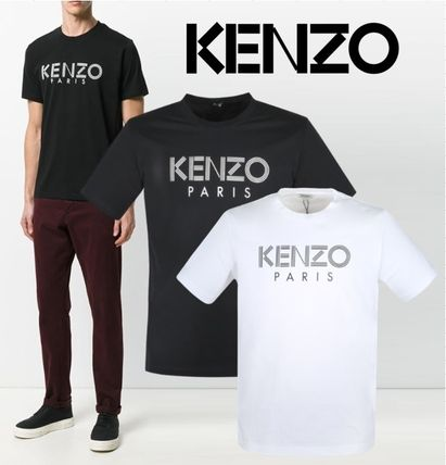 KENZO More T-Shirts Cotton Logo Designers T-Shirts
