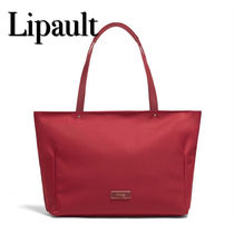 Lipault Casual Style Unisex A4 Plain Office Style Totes