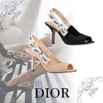 Christian Dior JADIOR Open Toe Casual Style Party Style Office Style Elegant Style