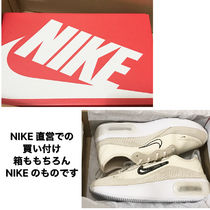 Nike AIR MAX Rubber Sole Casual Style Suede Blended Fabrics Leather Logo