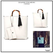 GIANNI CHIARINI Casual Style A4 2WAY Plain Leather Office Style