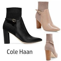 Cole Haan Plain Toe Casual Style Blended Fabrics Plain Leather