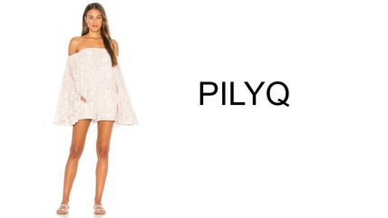 Short Casual Style Dolman Sleeves Flared Party Style Python