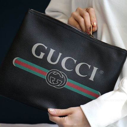 GUCCI Casual Style Leather Clutches