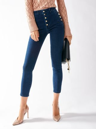 【CFC0097672003B041】Skinny Jeans with Buttons
